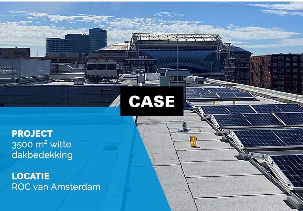Schadenberg Dakwerken Witte Dakbedekking ROC Amsterdam